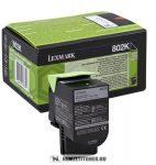 Lexmark CX 310, 410, 510 Bk fekete toner /80C20K0, 802K/, 1.000 oldal   eredeti termék