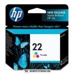 HP C9352AE színes #No.22 tintapatron, 5 ml | eredeti termék