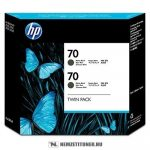 HP CB339A MBk matt fekete #No.70 -2db tintapatron, 130 ml | eredeti termék