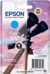 Epson T02V2 C ciánkék tintapatron /C13T02V24010, 502/, 3,3 ml | eredeti termék