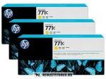 HP B6Y34A Y sárga 3db #No.771C tintapatron, 3x775 ml | eredeti termék