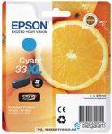 Epson T3362 XL C ciánkék tintapatron /C13T33624010, C13T33624012, 33XL/, 8,9 ml | eredeti termék