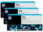 HP B6Y36A LC világos ciánkék 3db #No.771C tintapatron, 775 ml | eredeti termék
