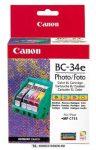 Canon BC-34E fotó színes fej+tintapatron /4612A002/, 4x13 ml   eredeti termék