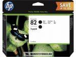 HP P2V34A Bk fekete #No.82 DUPLA tintapatron, 2x69 ml   eredeti termék
