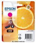 Epson T3343 M magenta tintapatron /C13T33434010, 33/, 4,5 ml | eredeti termék