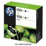 HP D8J47AE Bk fekete #No.920XL DUPLA tintapatron, 2x32 ml| eredeti termék