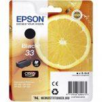 Epson T3331 Bk fekete tintapatron /C13T33314010, 33/, 6,4 ml   eredeti termék