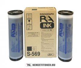 RISO RA/RC Bk fekete tinta /S-569/, 2x1000 ml   eredeti termék