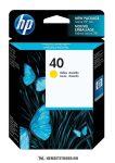 HP 51640YE Y sárga #No.40 tintapatron, 42 ml | eredeti termék