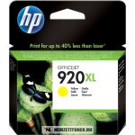 HP CD974AE Y sárga #No.920XL tintapatron, 8 ml   eredeti termék