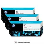 HP C9487A LM világos magenta 3db #No.91 tintapatron, 775 ml | eredeti termék
