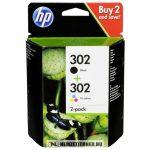 HP X4D37AE Bk+C fekete+színes multipack #No.302 tintapatron, 3,5 ml + 4 ml | eredeti termék