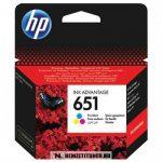 HP C2P11AE színes #No.651 tintapatron, 4 ml | eredeti termék