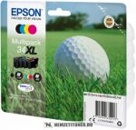 Epson T3476 XL multipack (Bk,C,M,Y) tintapatron /C13T34764010/, 16,3 ml + 3x10,8 ml   eredeti termék