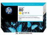 HP C4848A Y sárga #No.80 nagykapacitású tintapatron, 350 ml | eredeti termék