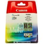 Canon PG-37 Bk fekete + CL-38 színes multipack tintapatron /2145B009/ | eredeti termék