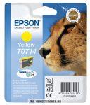 Epson T0714 Y sárga tintapatron /C13T07144011, C13T07144012/, 5,5 ml | eredeti termék