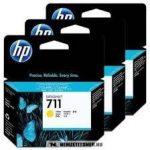 HP CZ136A Y sárga 3db #No.711 tintapatron, 3x29 ml | eredeti termék