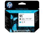 HP C9460A MBk matt fekete + C ciánkék #No.91 nyomtatófej | eredeti termék
