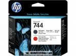 HP F9J88A MBk matt fekete + R vörös  #No.744 nyomtatófej | eredeti termék