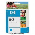 HP 51650CE C ciánkék #No.50 tintapatron, 42 ml | eredeti termék
