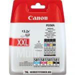 Canon CLI-581 XXL Bk,C,M,Y multipack tintapatron /1998C005/, 4x11,7 ml | eredeti termék