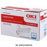 OKI C5600, C5700 C ciánkék dobegység /43381707/, 20.000 oldal | eredeti termék