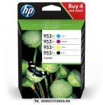 HP 3HZ52AE multipack #No.953XL tintapatron (Bk,C,M,Y), 42,5 ml+3x20,5 ml | eredeti termék