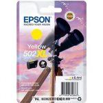 Epson T02W4 Y sárga tintapatron /C13T02W44010, 502XL/, 6,4 ml | eredeti termék