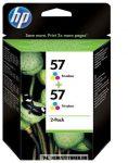 HP C9503AE C6657AE színes #No.57 DUPLA tintapatron, 2x17 ml | eredeti termék