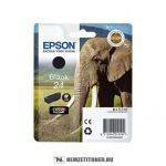 Epson T2421 Bk fekete tintapatron /C13T24214010/, 5,1 ml | eredeti termék