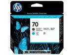 HP C9404A MBk matt fekete + C ciánkék #No.70 nyomtatófej | eredeti termék