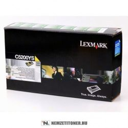 Lexmark C530 Y sárga toner /C5200YS/, 1.500 oldal | eredeti termék