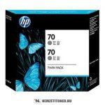 HP CB341A GY szürke #No.70 -2db tintapatron, 130 ml | eredeti termék