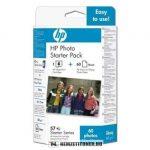 HP Q7942AE C6657AE színes #No.57 tintapatron, 17 ml + 10x15 fotópapír 60db   eredeti termék