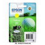 Epson T3464 Y sárga tintapatron /C13T34644010/, 4,2 ml   eredeti termék