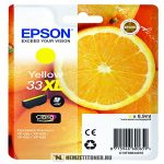 Epson T3364 XL Y sárga tintapatron /C13T33644010, C13T33644012, 33XL/, 8,9 ml | eredeti termék