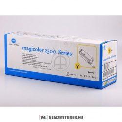 Konica Minolta MagiColor 2300 Y sárga toner /4576-315, 171-0517-002/, 1.500 oldal | eredeti termék