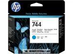 HP F9J86A PBk fotó fekete + C ciánkék #No.744 nyomtatófej | eredeti termék