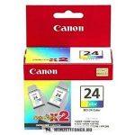 Canon BCI-24 C színes DUPLA tintapatron /6882A009/, 2x15 ml | eredeti termék