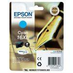 Epson T1632 XL C ciánkék tintapatron /C13T16324010, C13T16324012/, 6,5 ml | eredeti termék