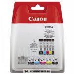 Canon CLI-571 + PGI-570 CMYBK+BK multipack tintapatron /0372C004/, 15 ml+4x7 ml | eredeti termék