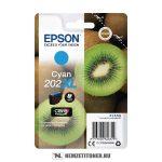 Epson T02H2 C ciánkék tintapatron /C13T02H24010, 202XL/, 8,5 ml | eredeti termék