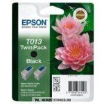 Epson T01302 fekete tintapatron duopack /C13T01340210/, 2x10 ml | eredeti termék