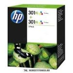HP D8J46AE színes nagykapacitású #No.301XL DUPLA tintapatron, 2x8 ml | eredeti termék