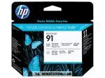 HP C9463A PBk fotó fekete + LGY világos szürke #No.91 nyomtatófej | eredeti termék