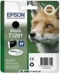 Epson T1281 Bk fekete tintapatron /C13T12814011, C13T12814012/, 5,9 ml | eredeti termék