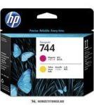 HP F9J87A M magenta + Y sárga  #No.744 nyomtatófej | eredeti termék