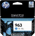 HP 3JA23AE C ciánkék #No.963 tintapatron, 10,74 ml | eredeti termék